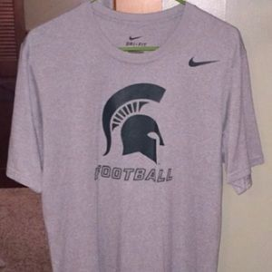 Nike Michigan State Football DriFit Tee